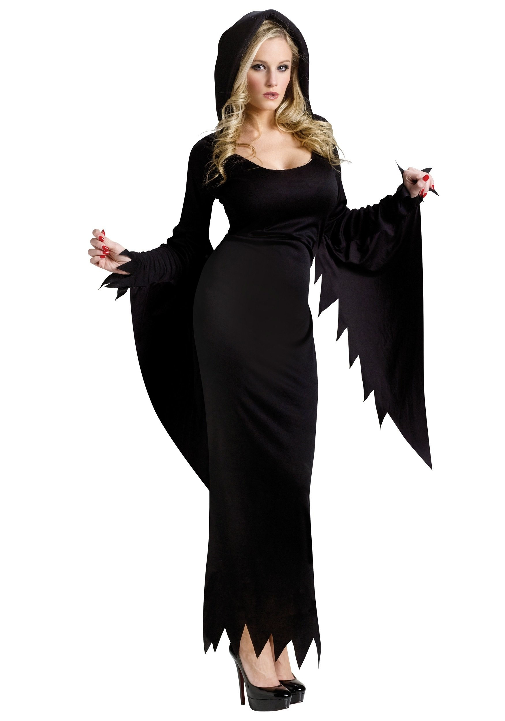 10 Wonderful Witch Costume Ideas For Women black hooded gown witch vampire costume ideas 2020