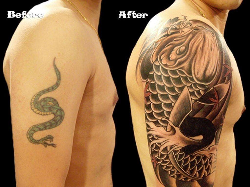 10 Fabulous Black Tattoo Cover Up Ideas black japanese cover up shoulder tattoo cover tattoo drawings 1 2020