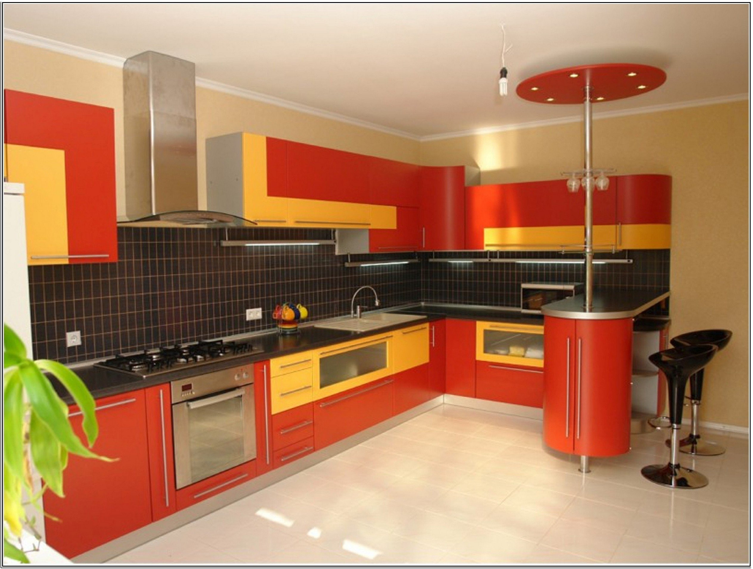 yellow and red kitchen   My Web Value