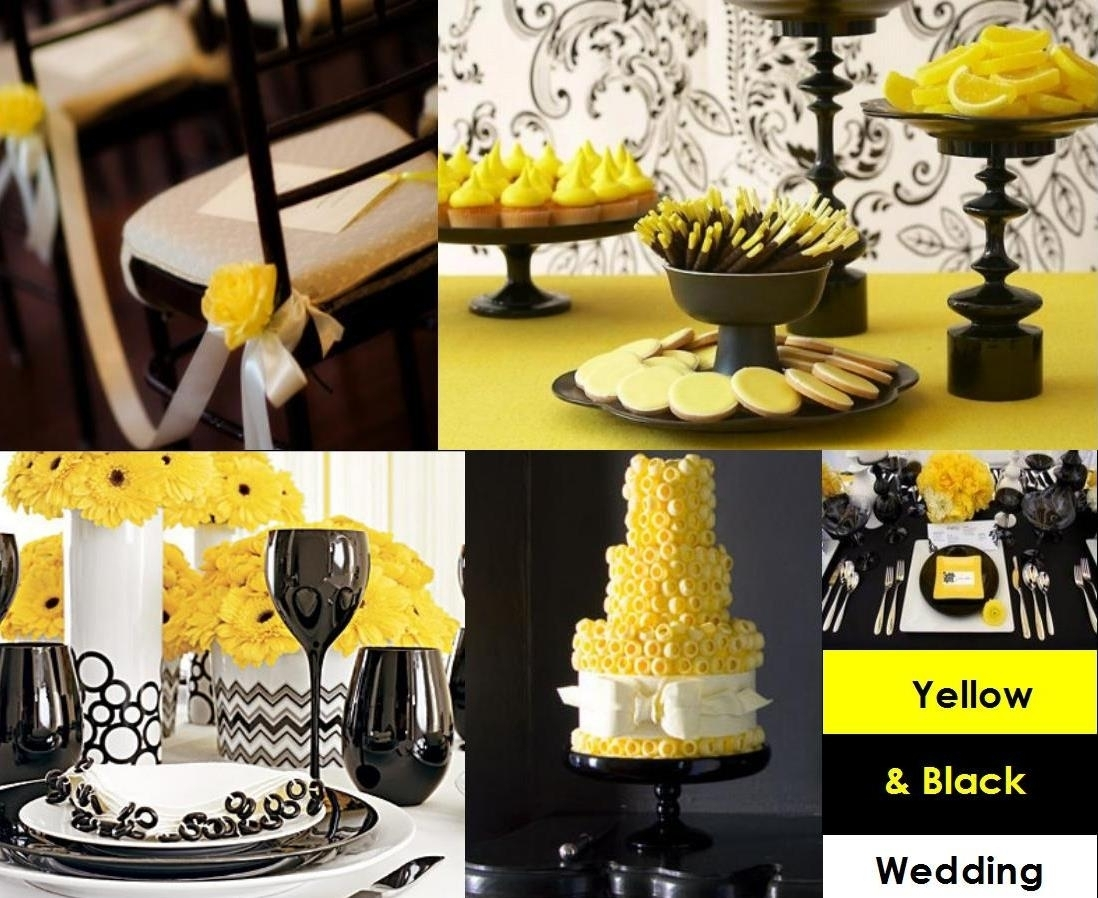 black white and yellow party decoration ideas • white bedroom design