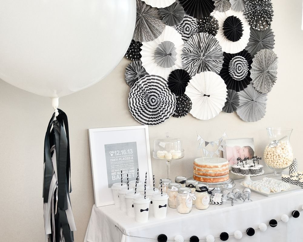 10 Unique Black And White Party Decorations Ideas black white first birthday party diy party crafts diy party and 1