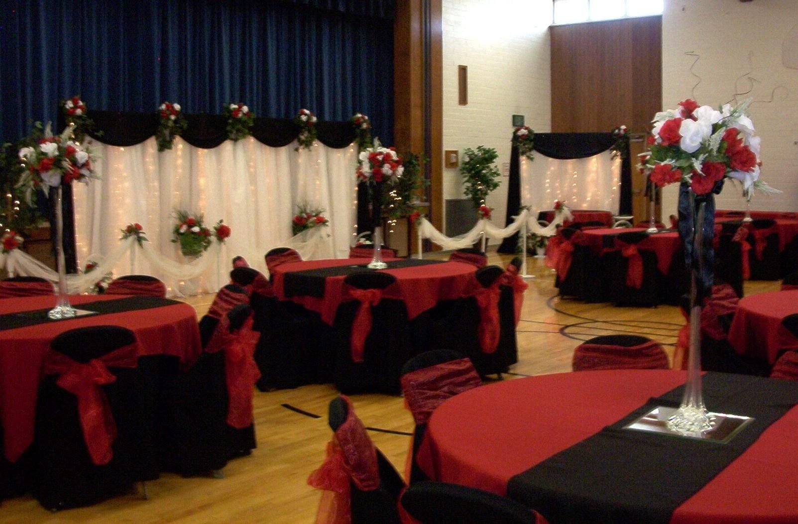 10 Stunning Black And Red Wedding Ideas black white red gold reception decorations october 9th 2009 1 2020