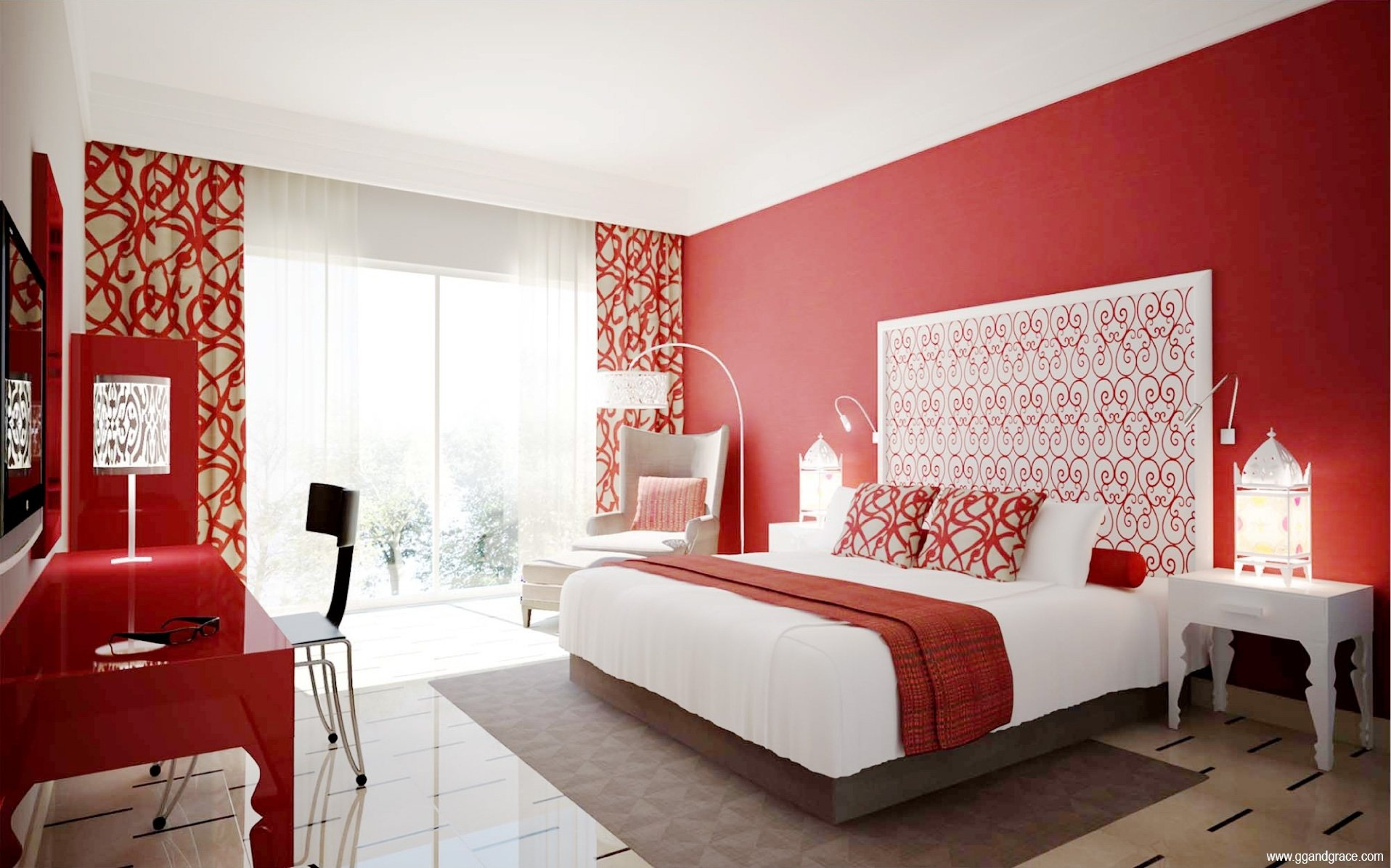 blackwhite and red bedroom themes cool black white design ideas ~ idolza
