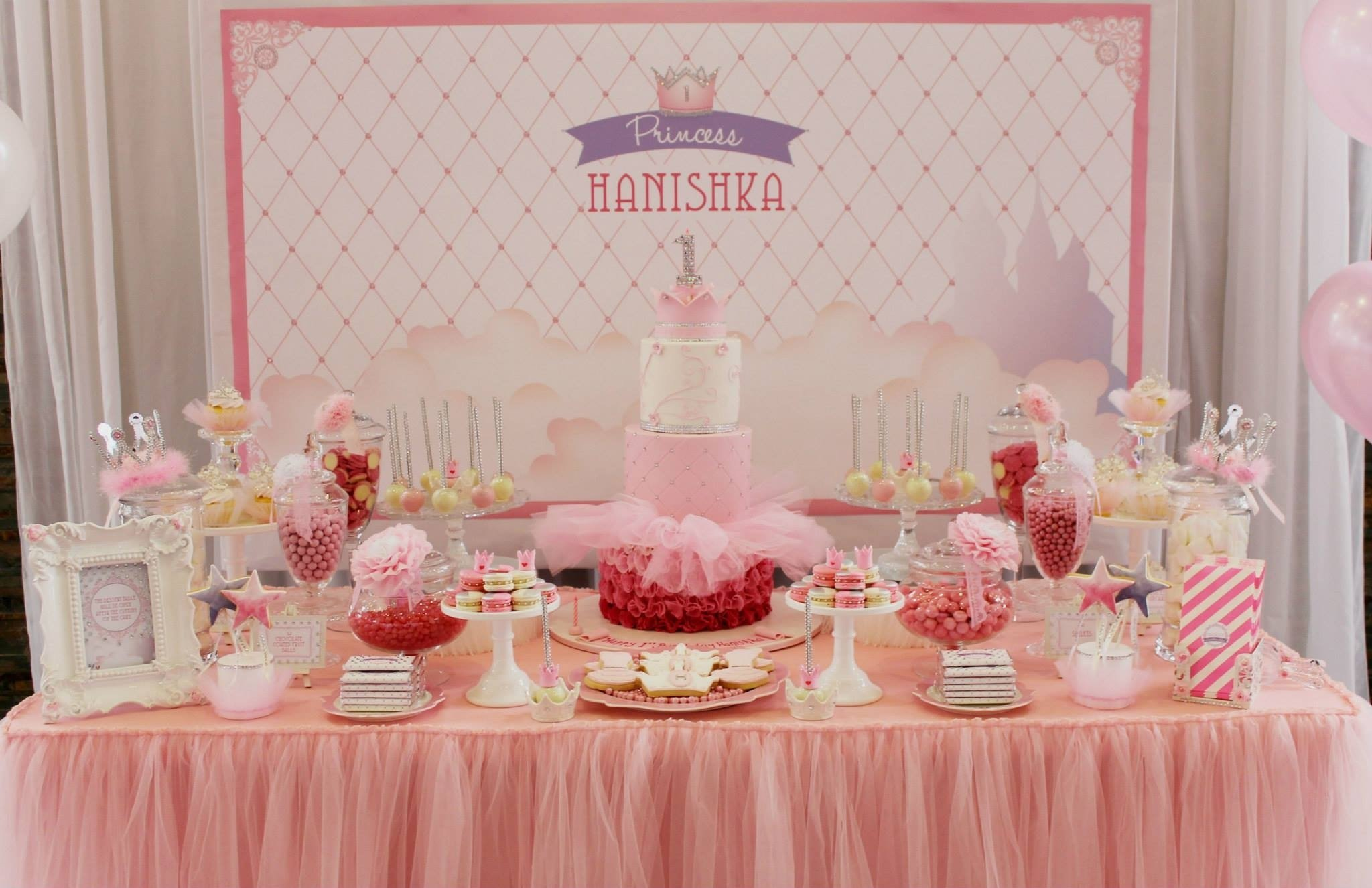 10 Attractive 1St Birthday Princess Party Ideas bling princess first birthday party birthday party ideas themes 1 2021