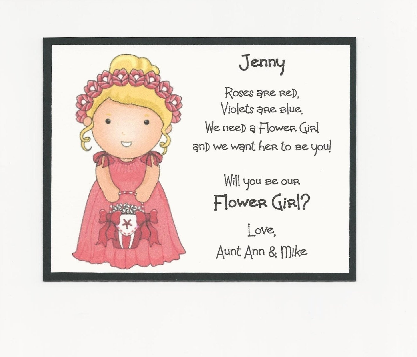 10 Unique Will You Be My Flower Girl Ideas blonde jenny will you be my flower girl flat card for will you be my 2020
