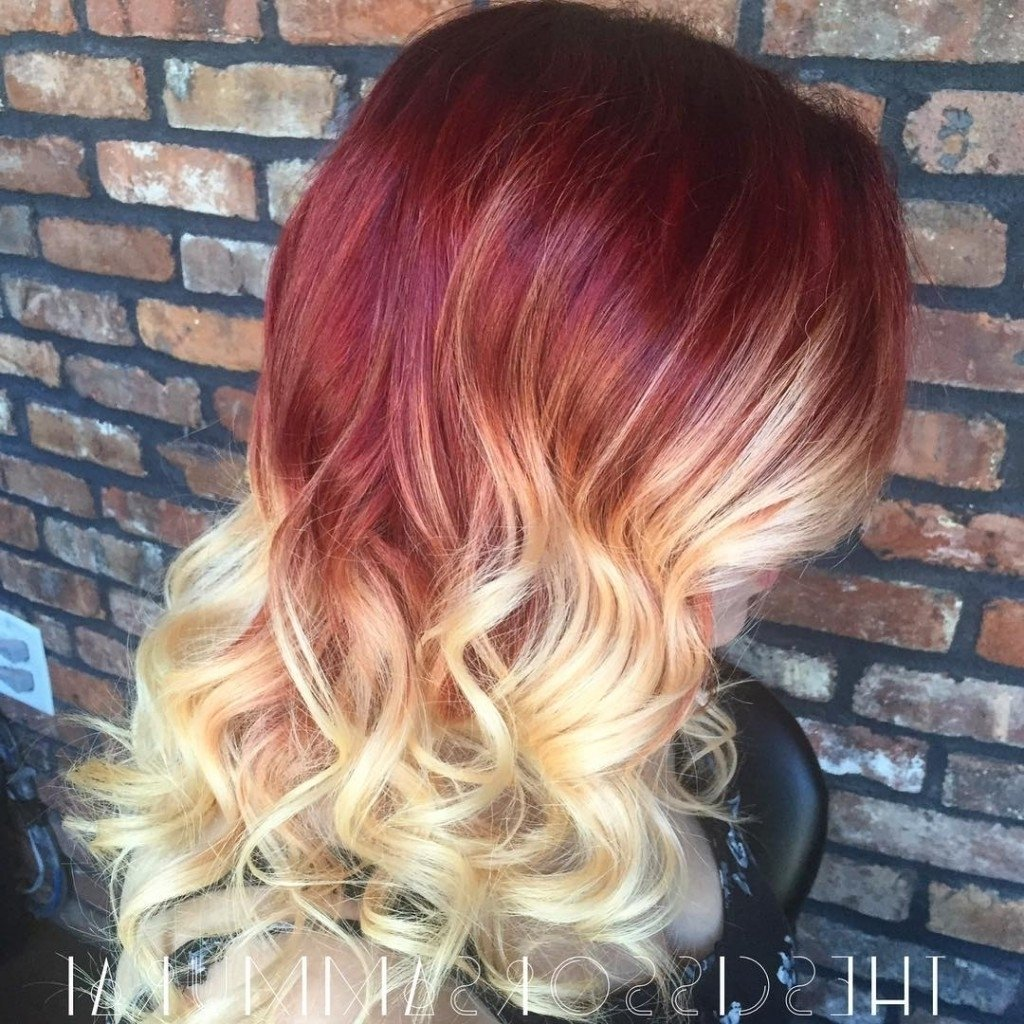 10 Most Recommended Red And Blonde Hair Ideas blonde with red underneath golden medium free hair color best stock 2020