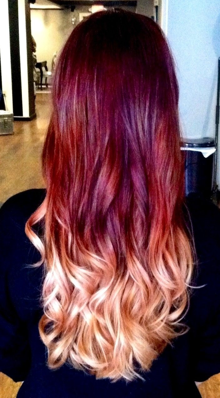 10 Stunning Red With Blonde Hair Color Ideas blonde with red underneath love this beautiful and best hair color 1 2021