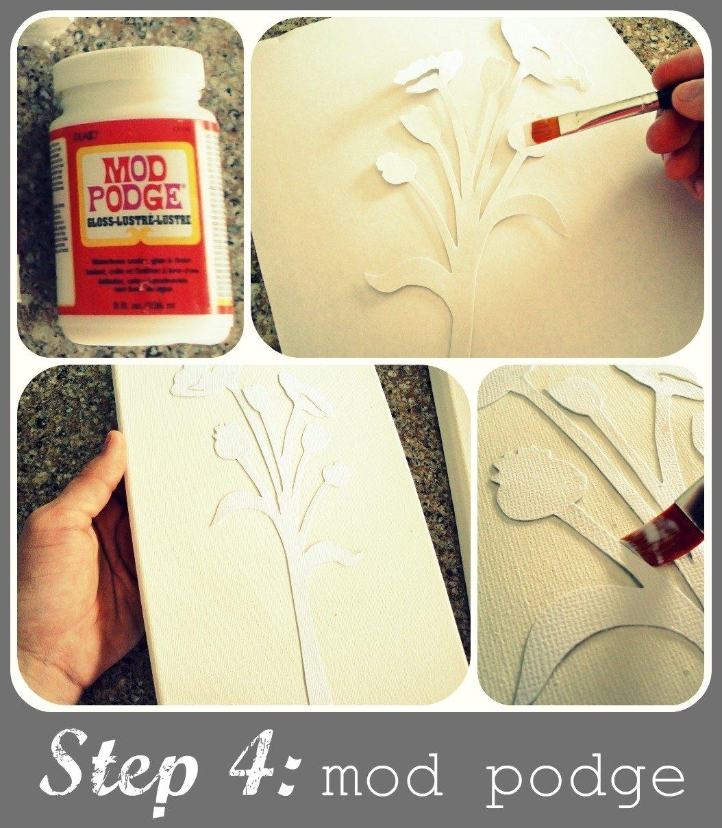 10 Gorgeous Modge Podge Ideas On Canvas