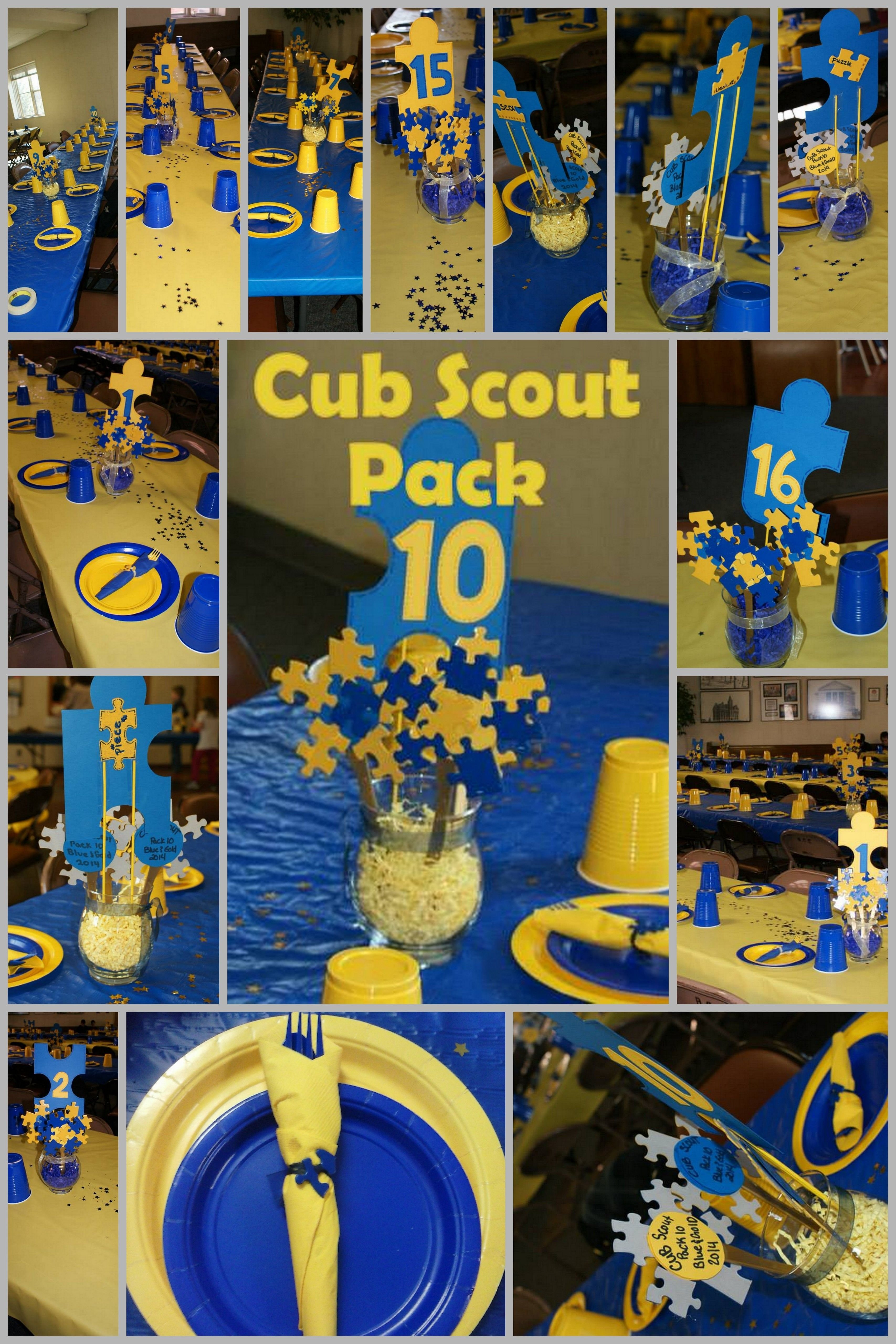 10 Fantastic Cub Scout Blue And Gold Ideas blue and gold puzzle piece themed party for cub scout pack 10 cub