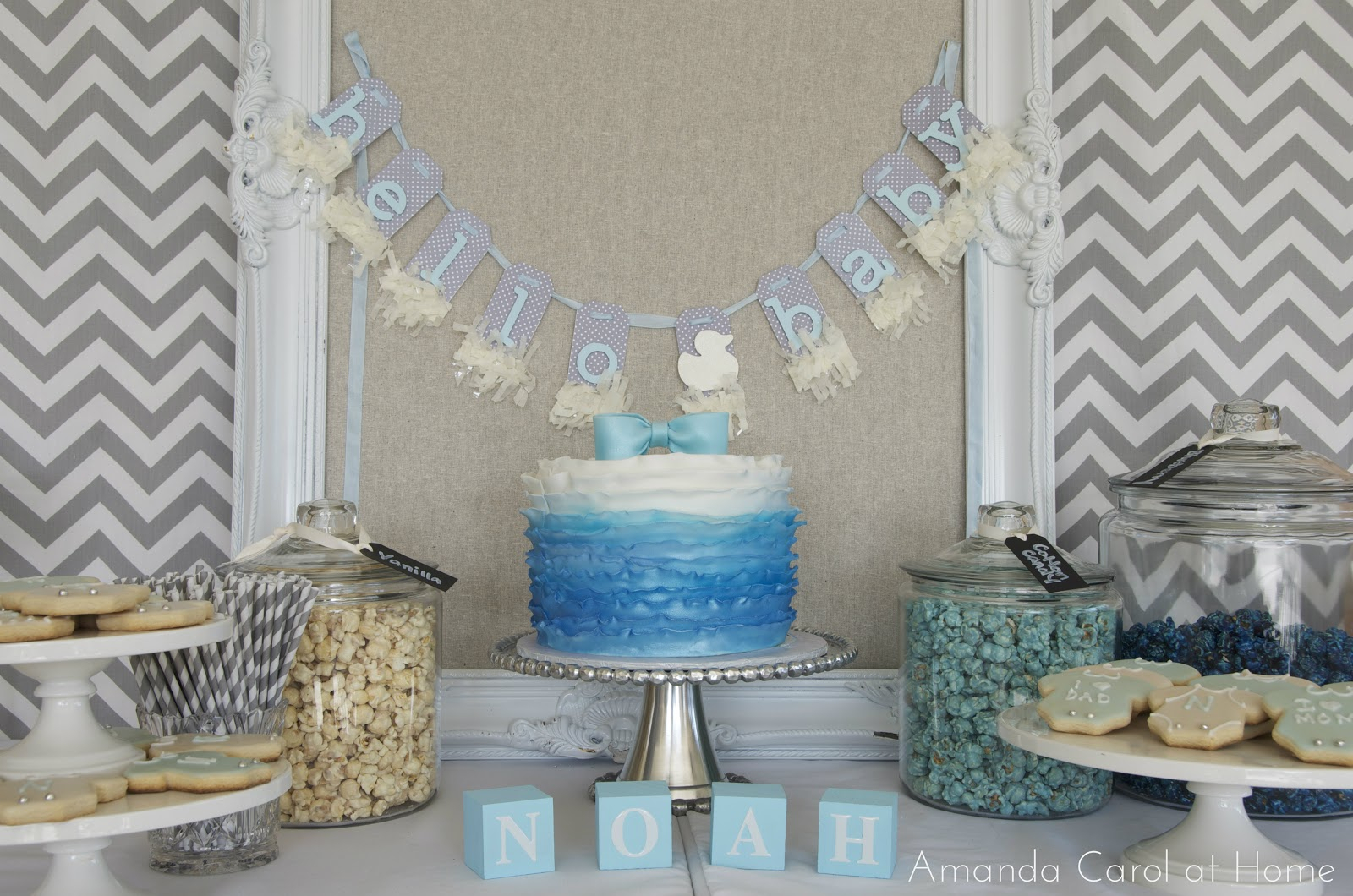 10 Beautiful Blue And White Baby Shower Ideas blue and gray baby shower decorations baby interior design 2020