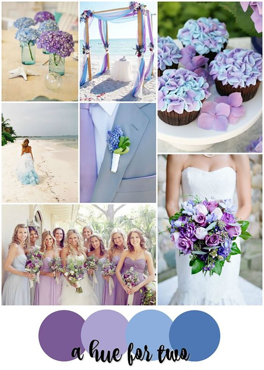 10 Awesome Purple And Green Wedding Ideas blue and purple colour scheme wedding ideascolour chwv 4 2021