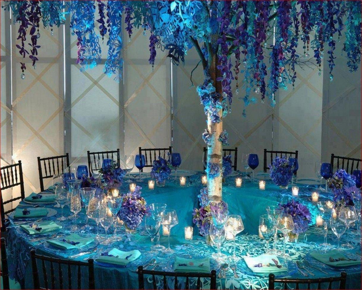 10 Pretty Teal And Purple Wedding Ideas blue and purple wedding decoration ideas sunroom basement industrial 1 2020
