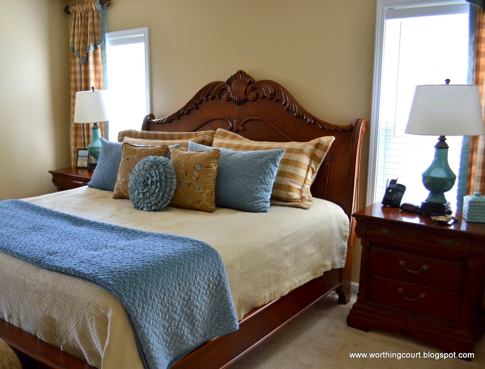 blue and tan bedroom ideas | design ideas: blue brown eyes, master