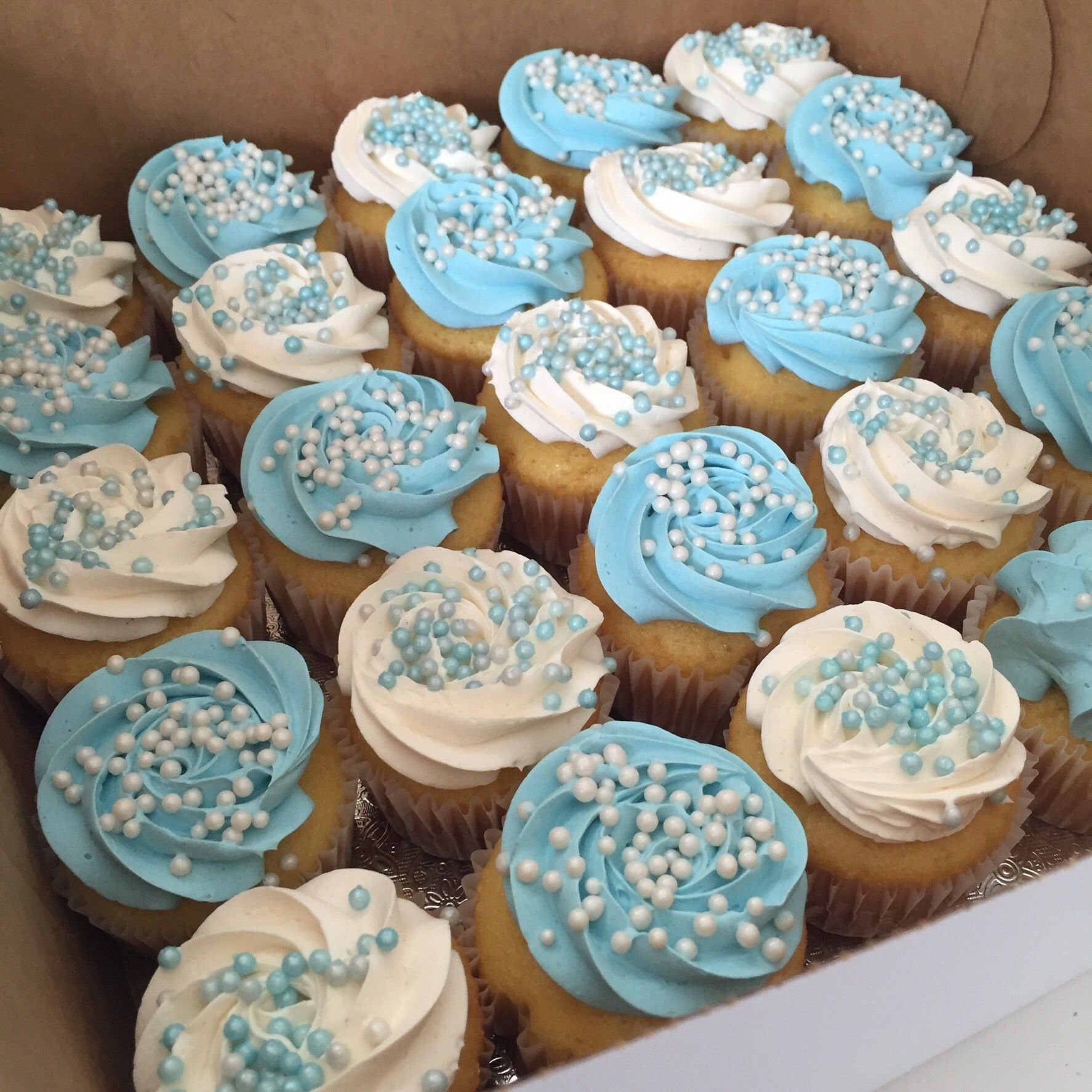 10 Famous Boy Baby Shower Cakes Ideas blue and white baby shower cupcake all things cake pinterest 2020