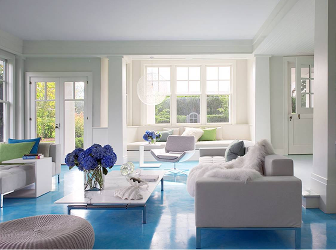 blue and white living room decorating ideas | summer home tour with