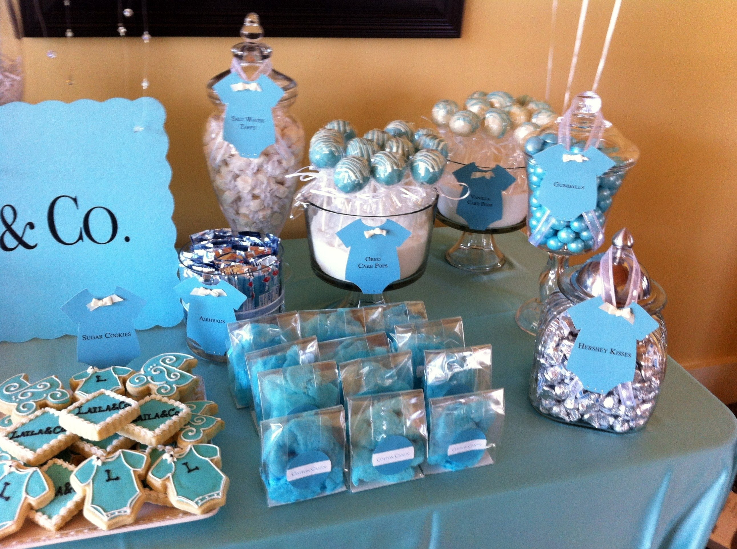 10 Elegant Baby Shower Candy Bar Ideas blue baby shower candy buffet image collections showers on orange 2