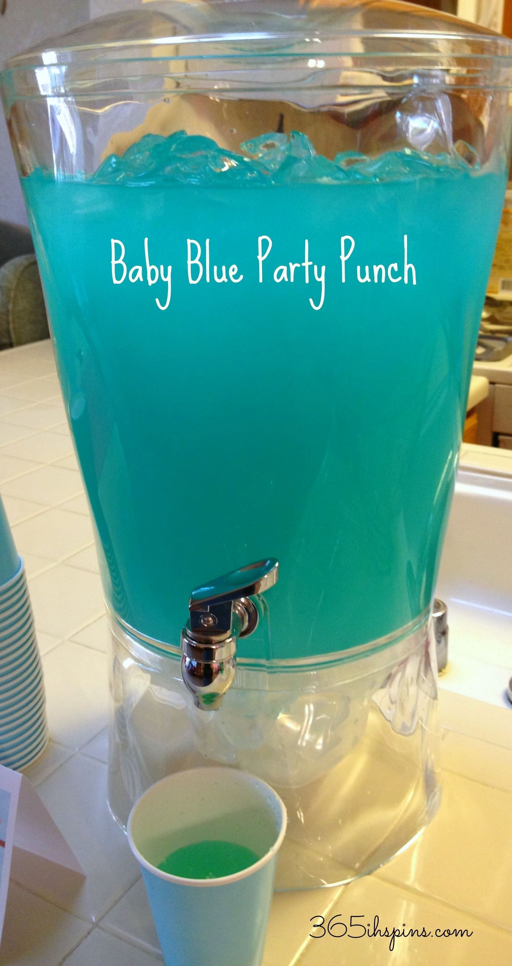 blue punch for baby shower | day 291: pretty pink punch & baby blue