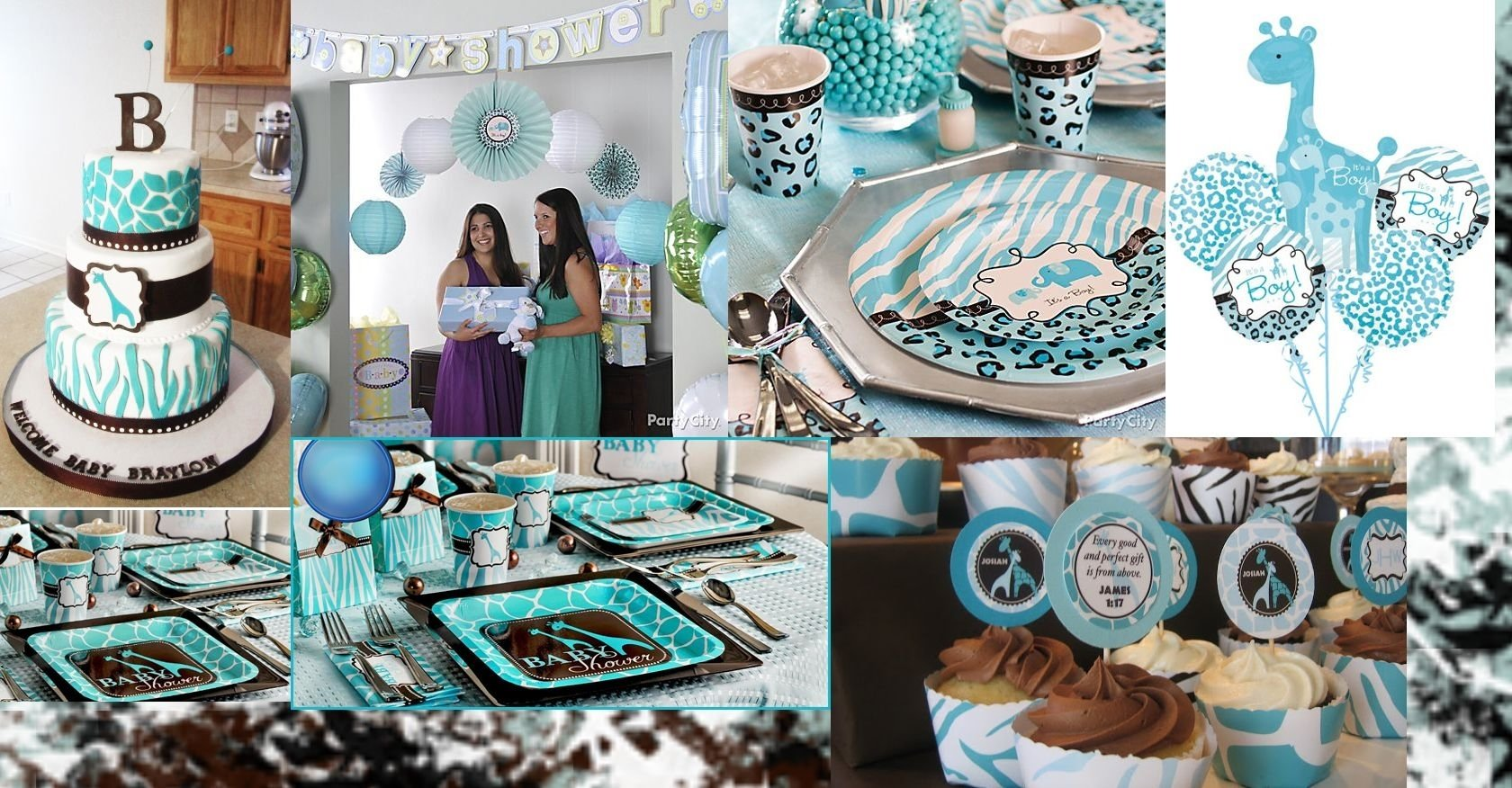 10 Fabulous Blue And Brown Baby Shower Ideas blue safari baby shower baby shower kids party pinterest 1 2020