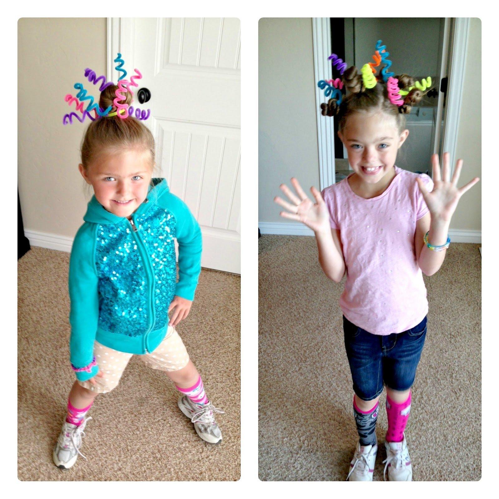 10 Fantastic Ideas Crazy Hair Day School blue skies ahead crazy hair day ideas 6 2021