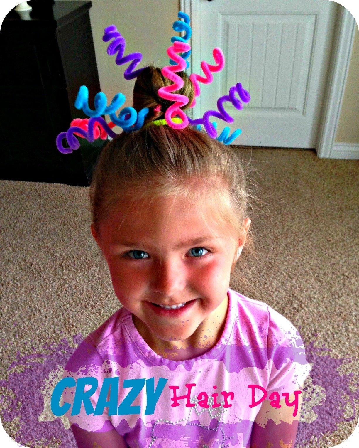 10 Unique Crazy Hair Ideas For Kids blue skies ahead crazy hair day ideas 8