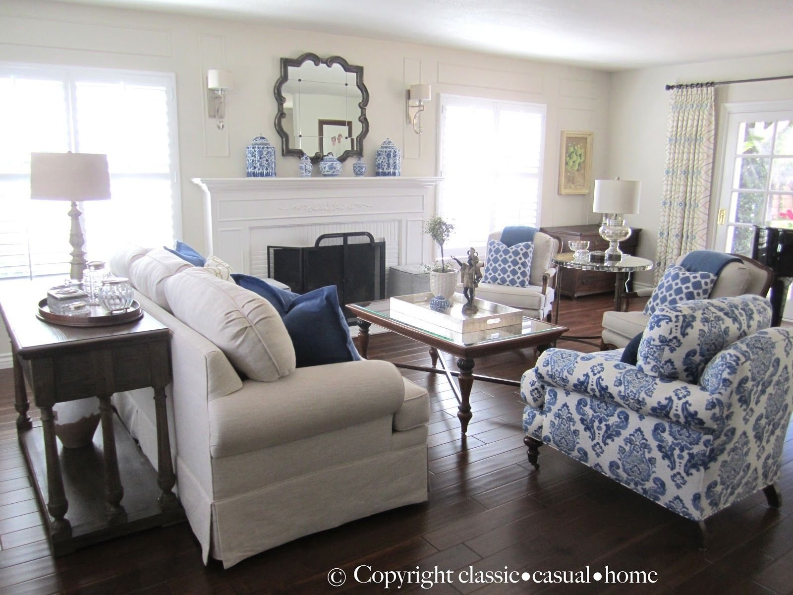 10 Stunning Blue And White Living Room Ideas blue white and silver timeless design timeless design living 2021