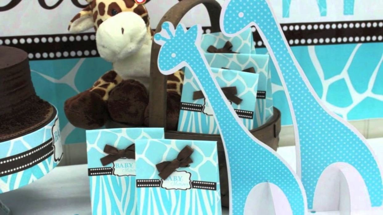 10 Fabulous Blue And Brown Baby Shower Ideas blue zoo baby shower supplies youtube awesome brown and baby blue 2020