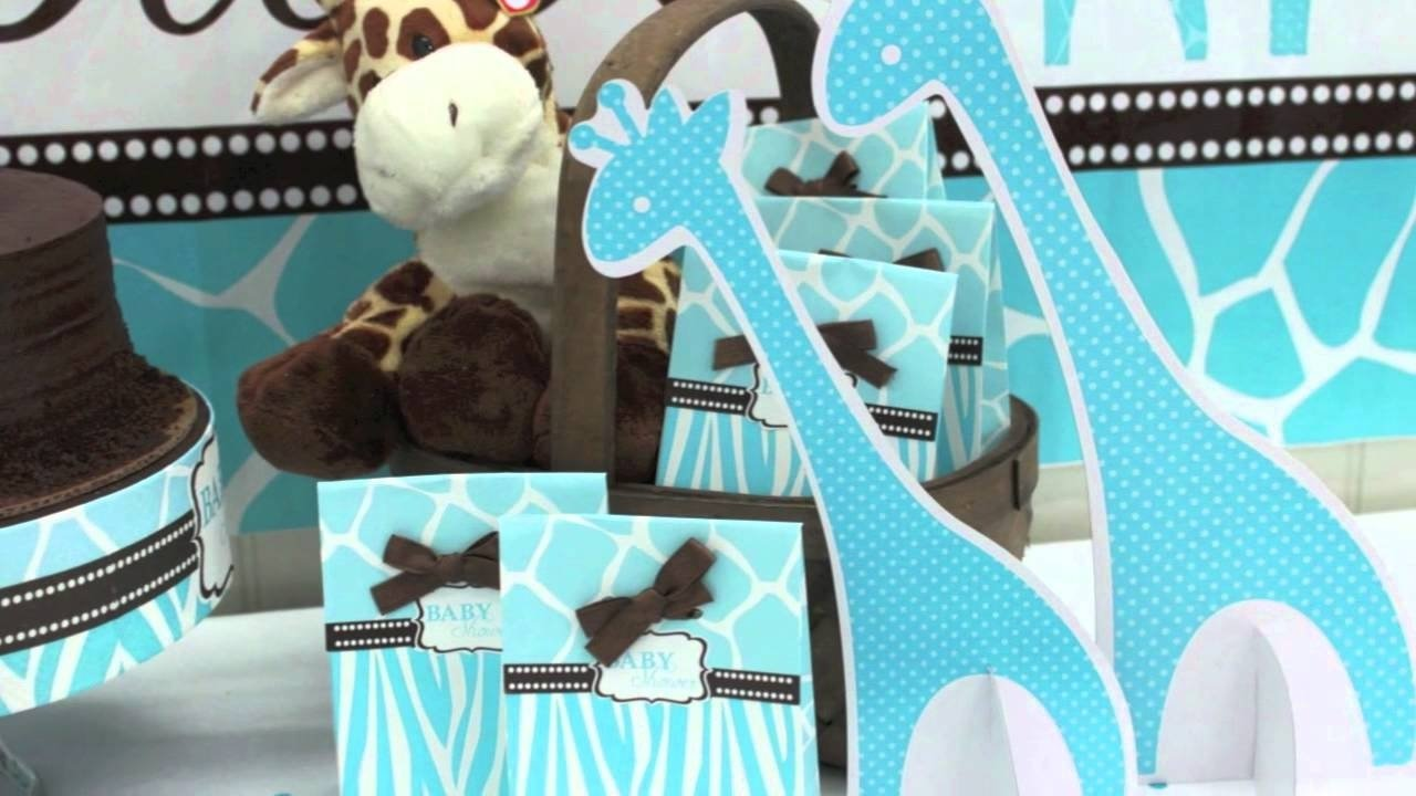 10 Perfect Brown And Blue Baby Shower Decorating Ideas blue zoo baby shower supplies youtube