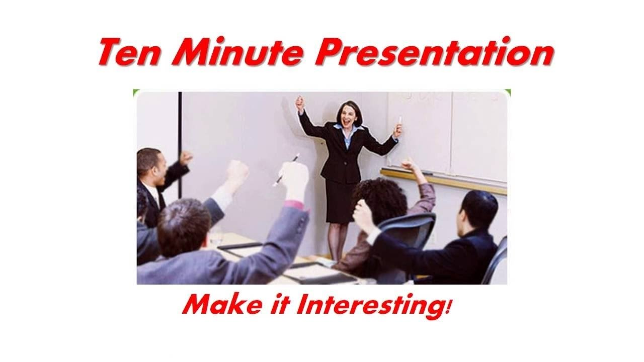 bni infinity training session - 10 minute presentation tips - youtube