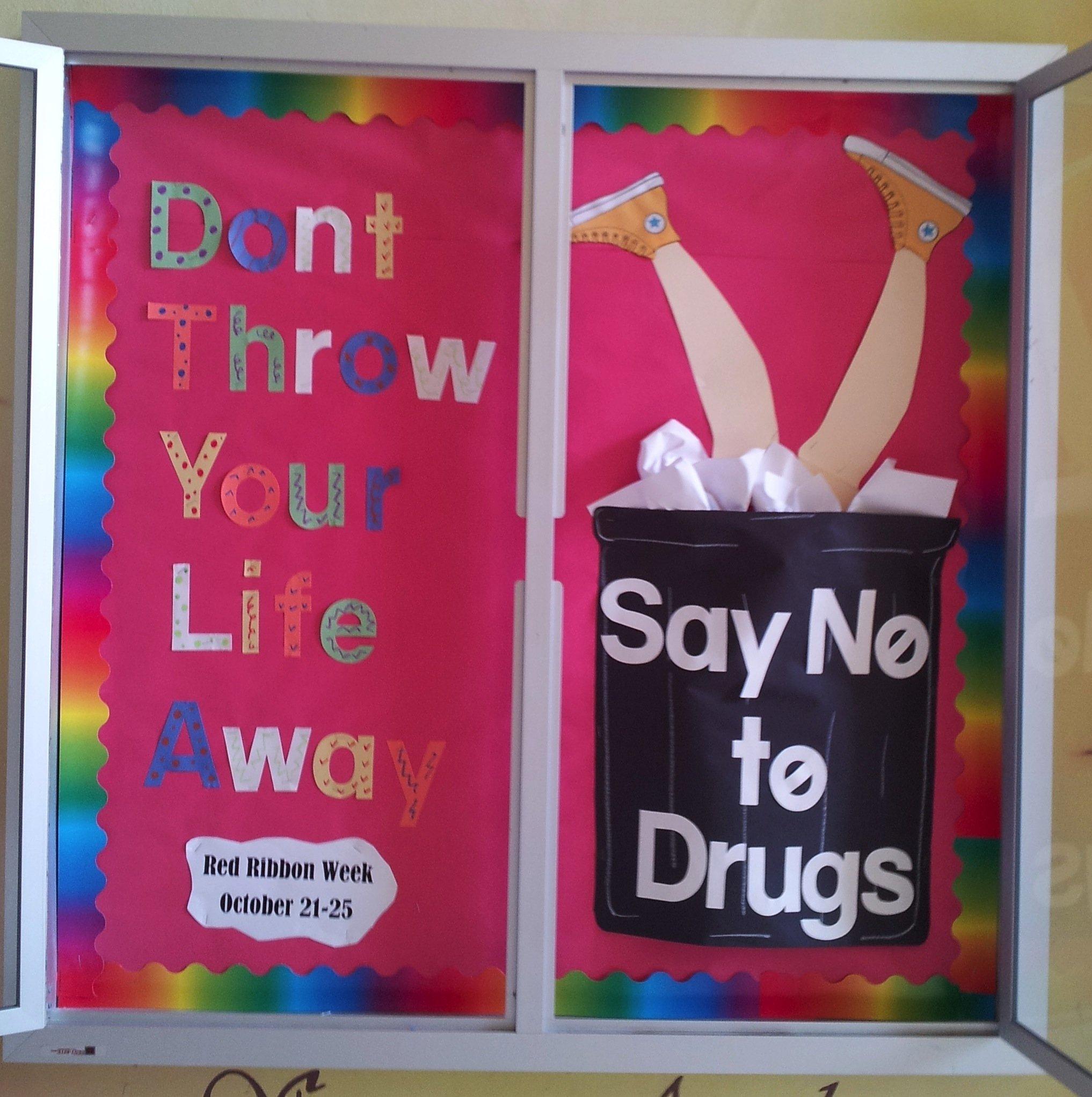 10 Great Red Ribbon Week Bulletin Board Ideas bodacious bulletin boards little miss sunshine state