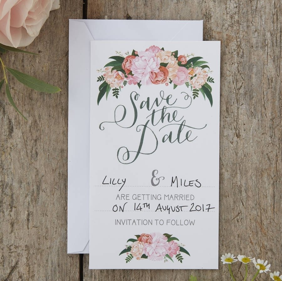 10 Nice Save The Date Invitation Ideas boho floral save the date wedding cardsginger ray 2020