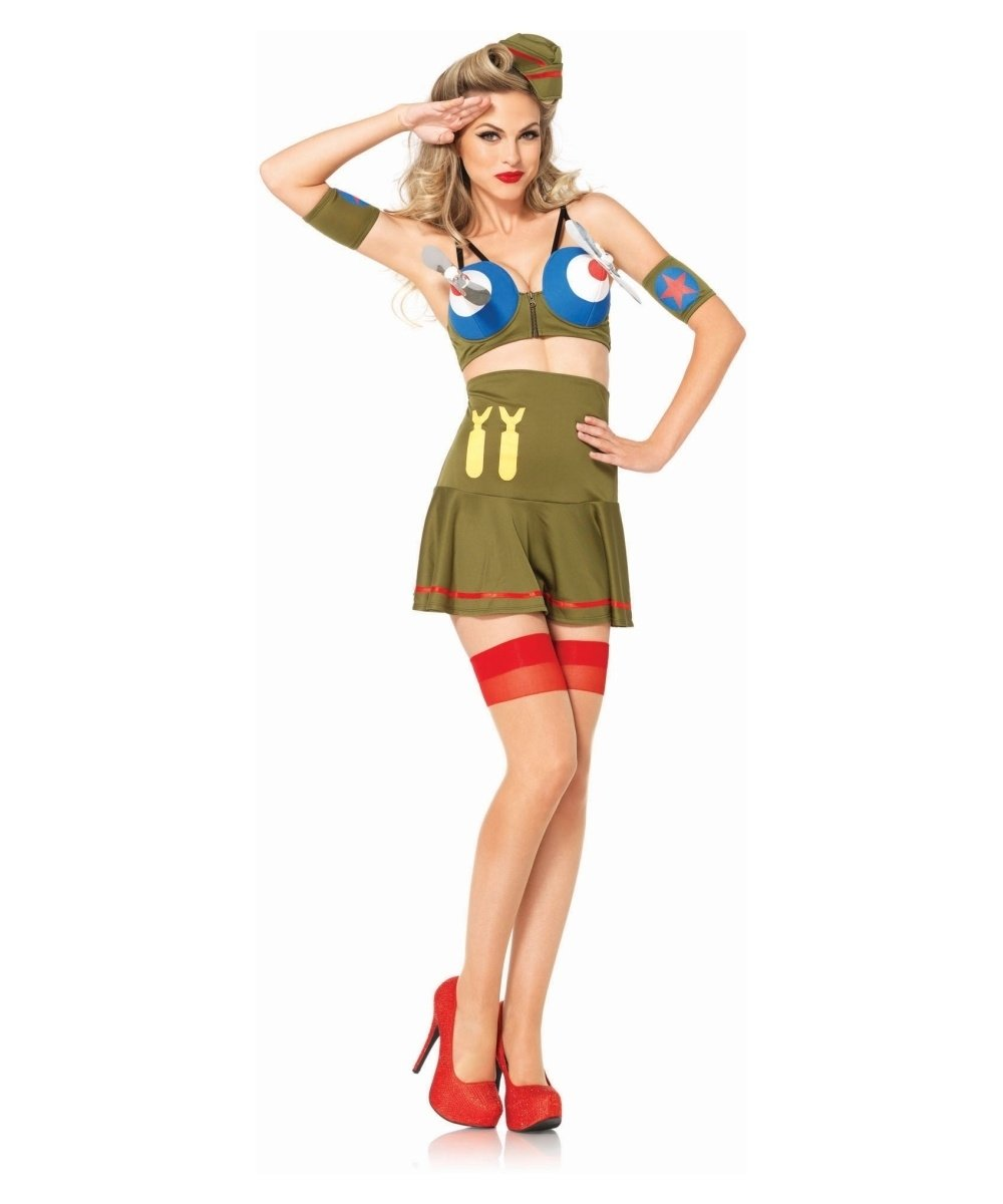 10 Famous Pin Up Girl Costumes Ideas bomber pin up girl womens costume 2020