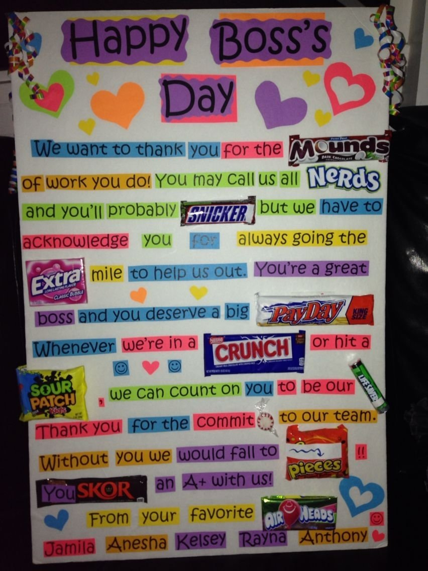 10 Famous Gift Ideas For Bosses Day bosss day surprise this was such a fun and creative gift for 1 2021