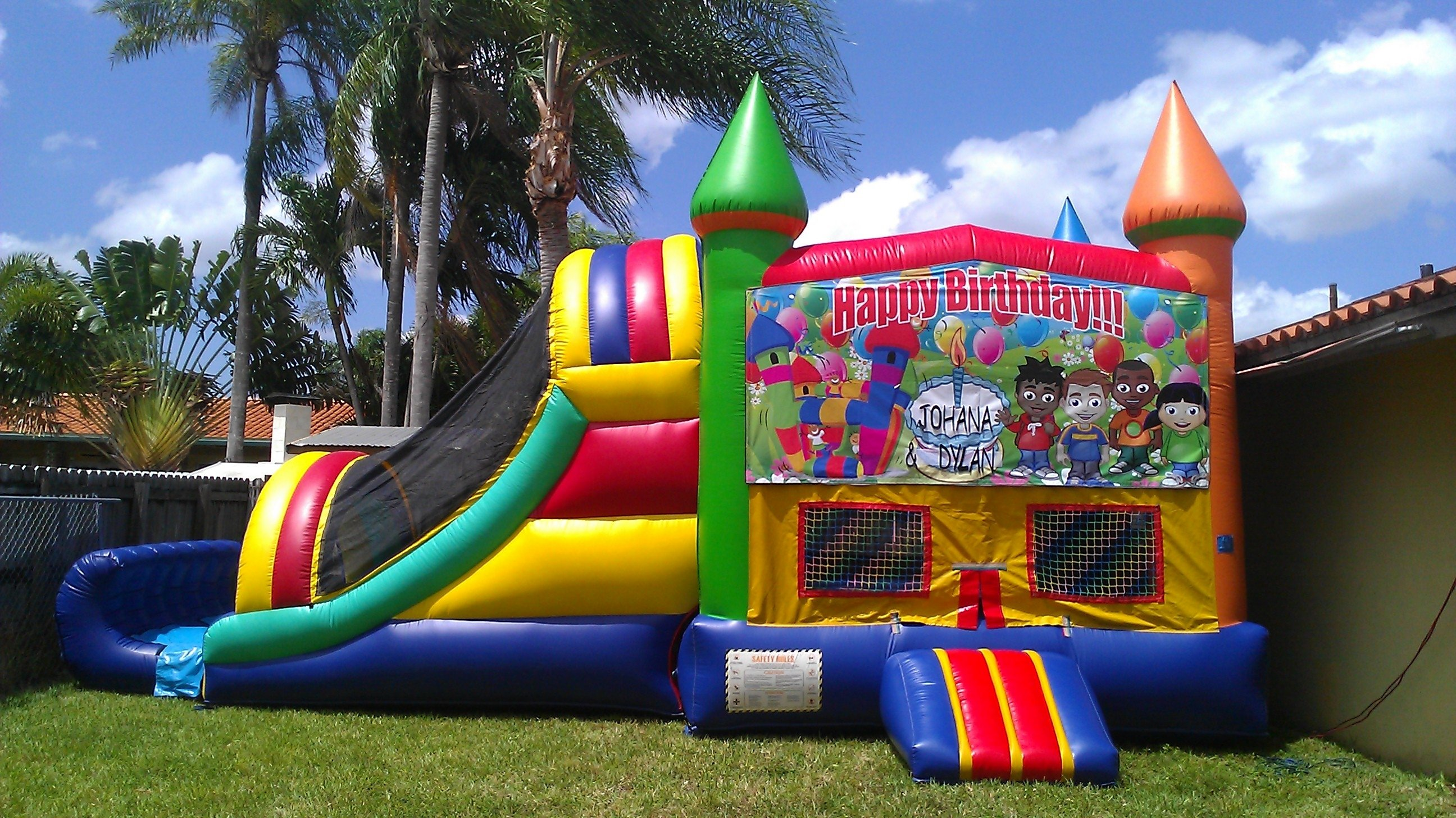10 Fashionable Bounce House Birthday Party Ideas bounce houses cinnamonstixx party rentals miami bounce house 2021