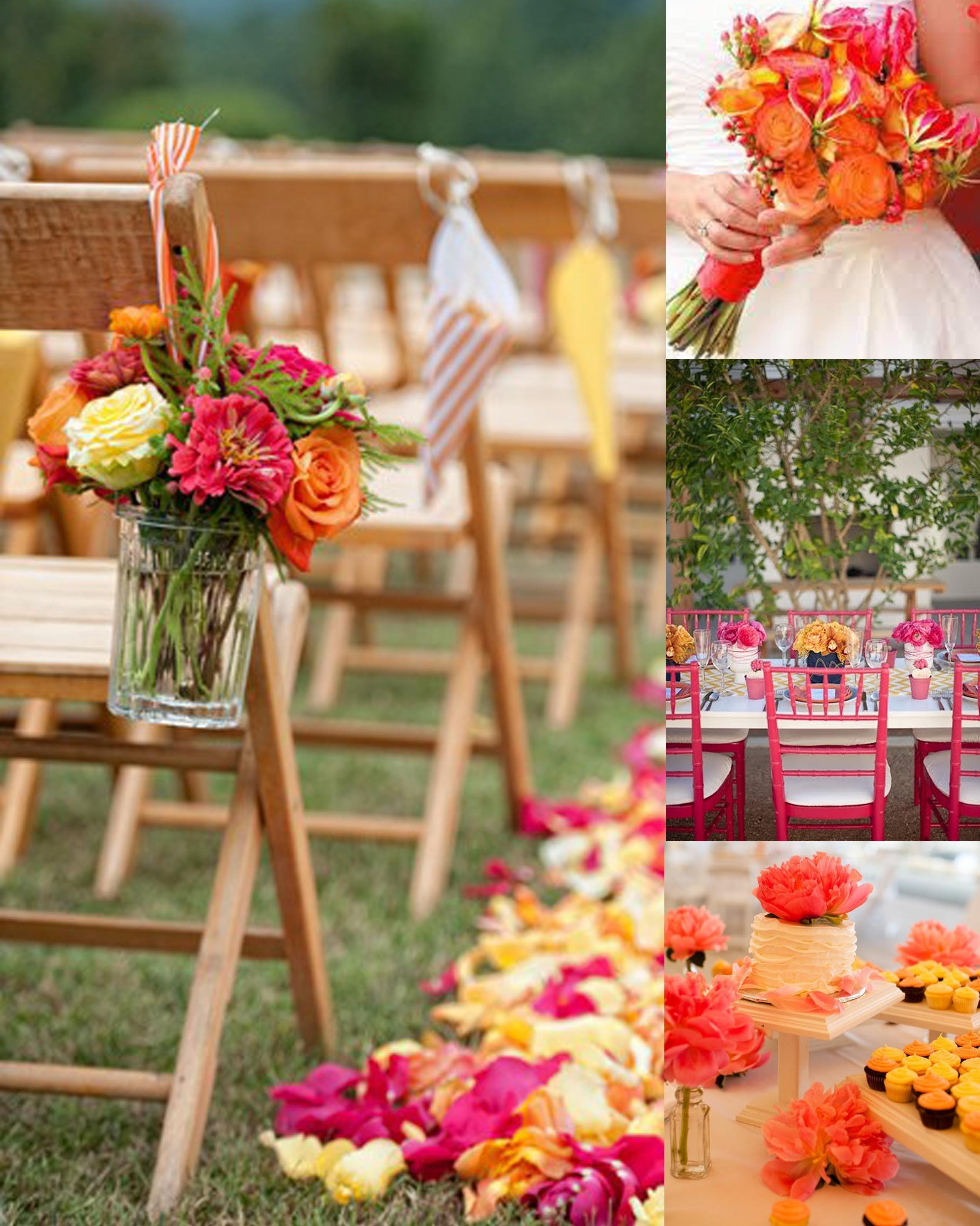 10 Attractive Pink And Orange Wedding Ideas bouquet