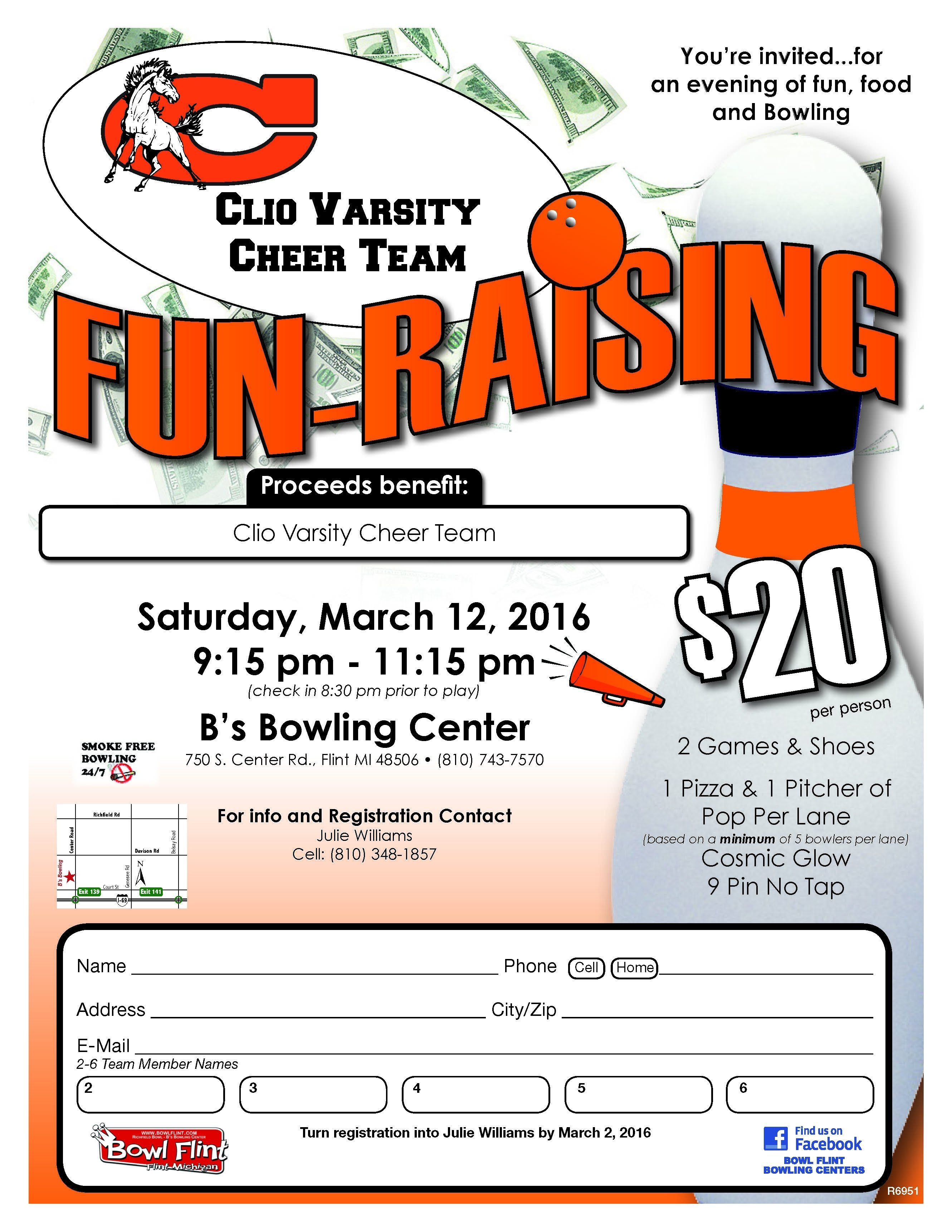 10 Cute Fundraising Ideas For Baseball Teams bowl a thon flyer google search body pinterest fundraising 2020