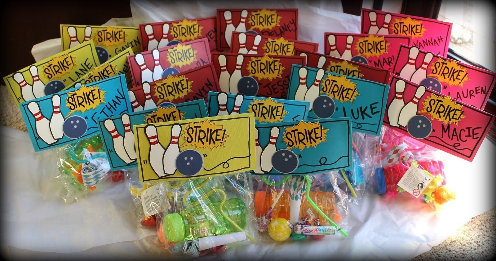 10 Attractive Birthday Party Gift Bag Ideas Bowling Goodie Bags Anyone