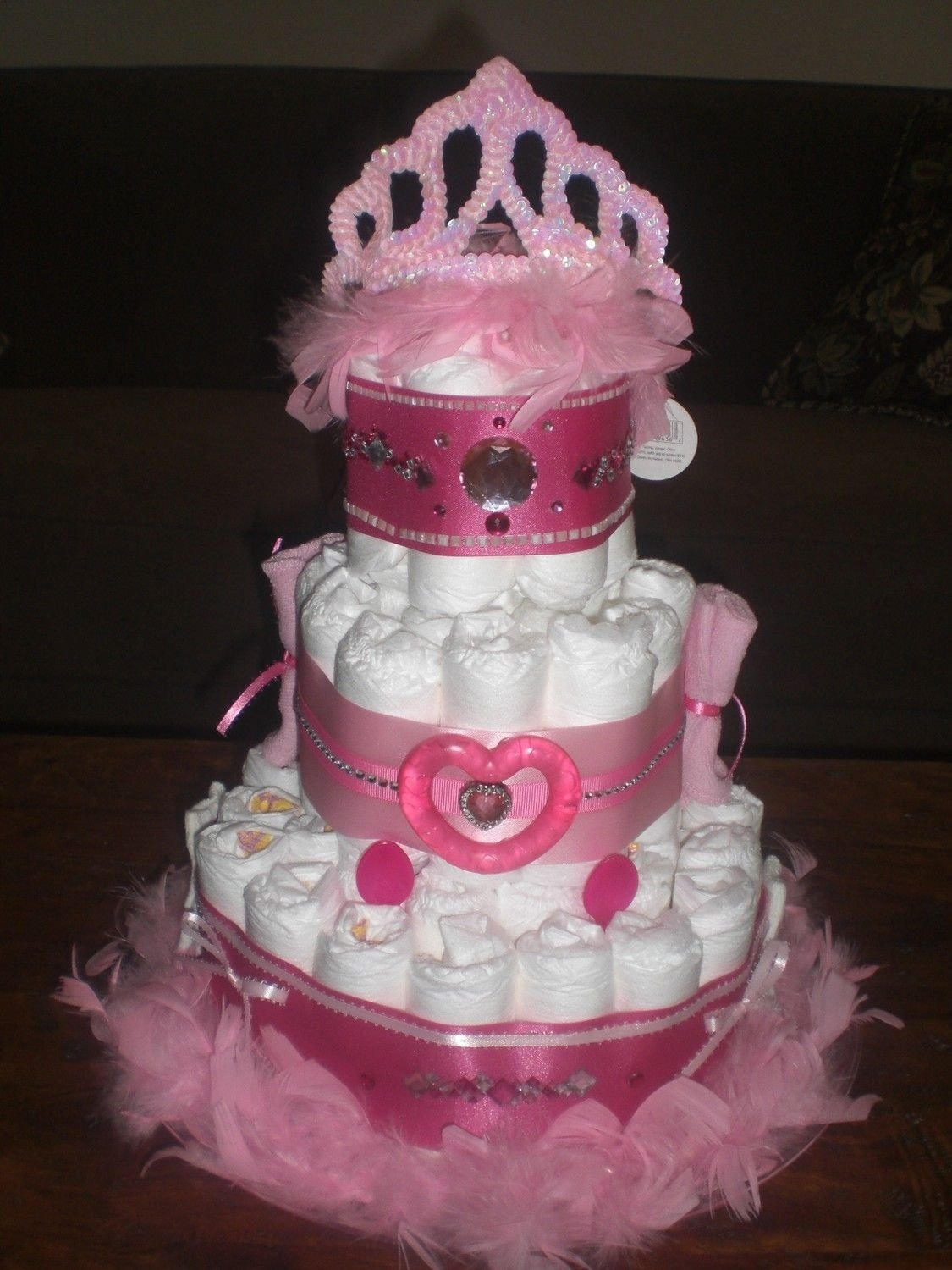 10 Fantastic Diaper Cake Ideas For Girls bows and bling diaper cake girl baby shower other colors too cake 2020