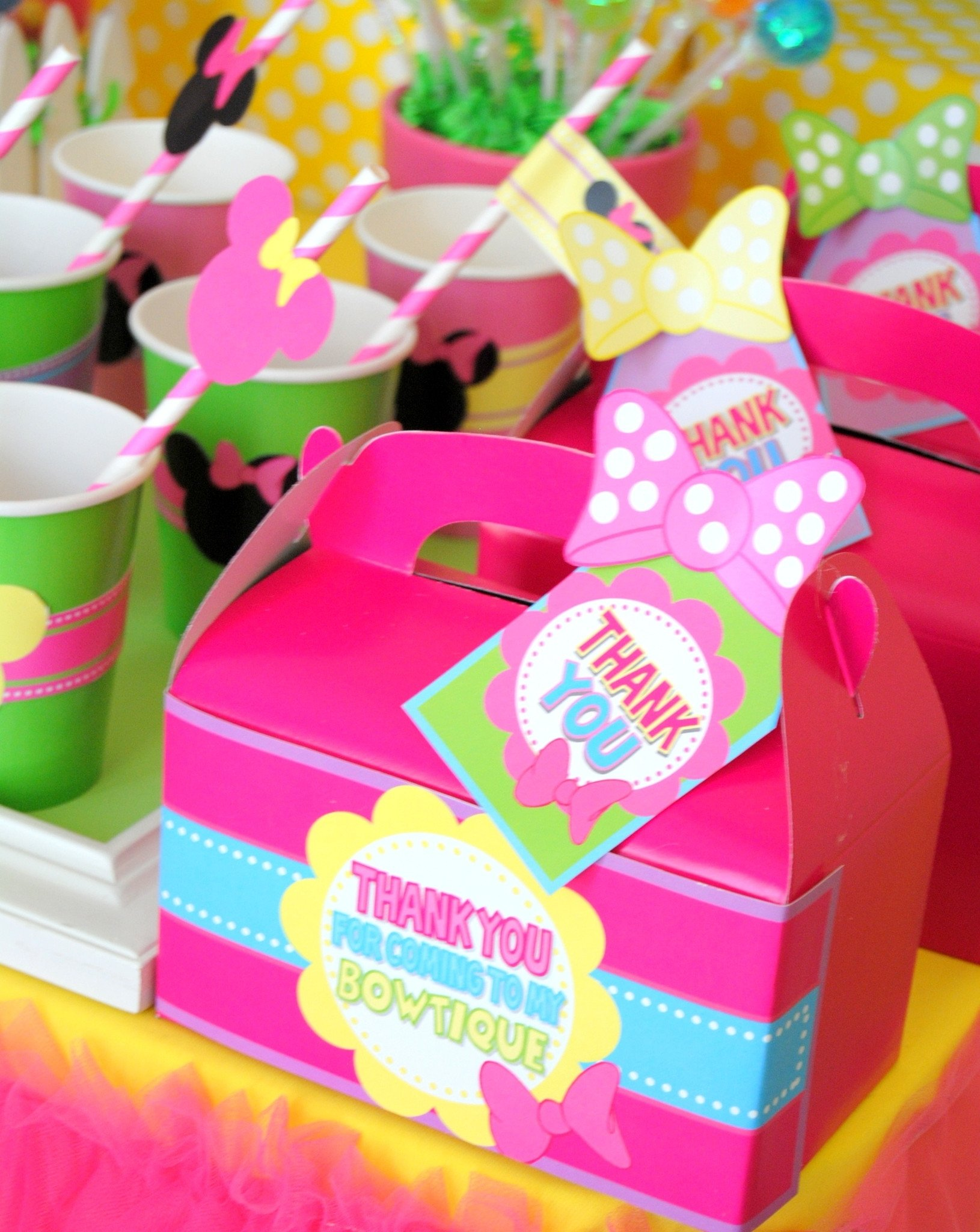 10 Wonderful Minnie Mouse Bowtique Party Ideas bowtique party pink mouse birthday party mouse thank you tags 2020