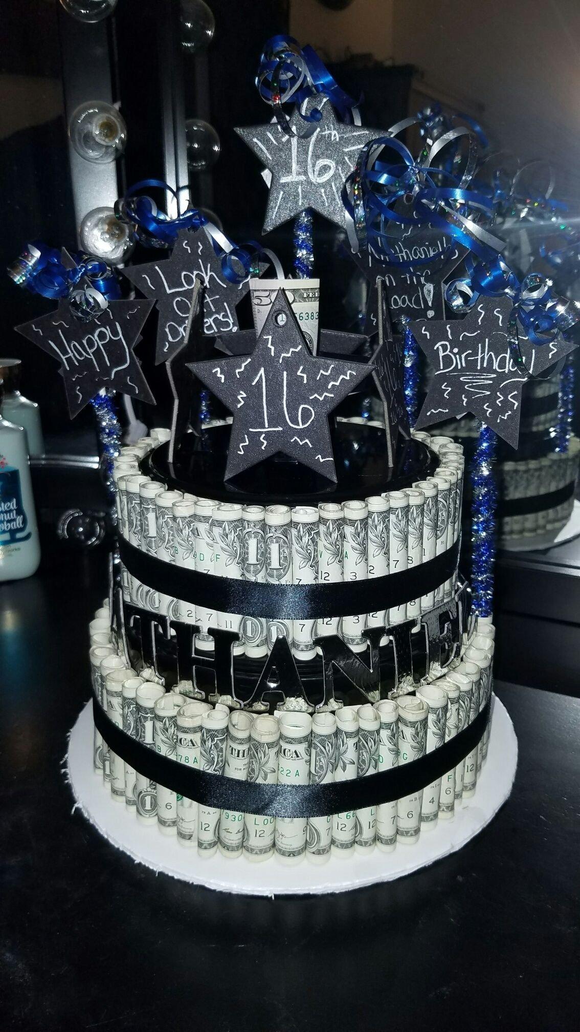 10 Famous Ideas For 16Th Birthday Boy boy 16th birthday money cake 16th birthday pinterest boy 16th 2