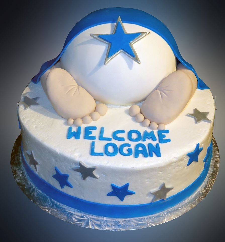 10 Great Baby Shower Cake Ideas For Boy boy baby shower cake sweet somethings desserts 3 2020