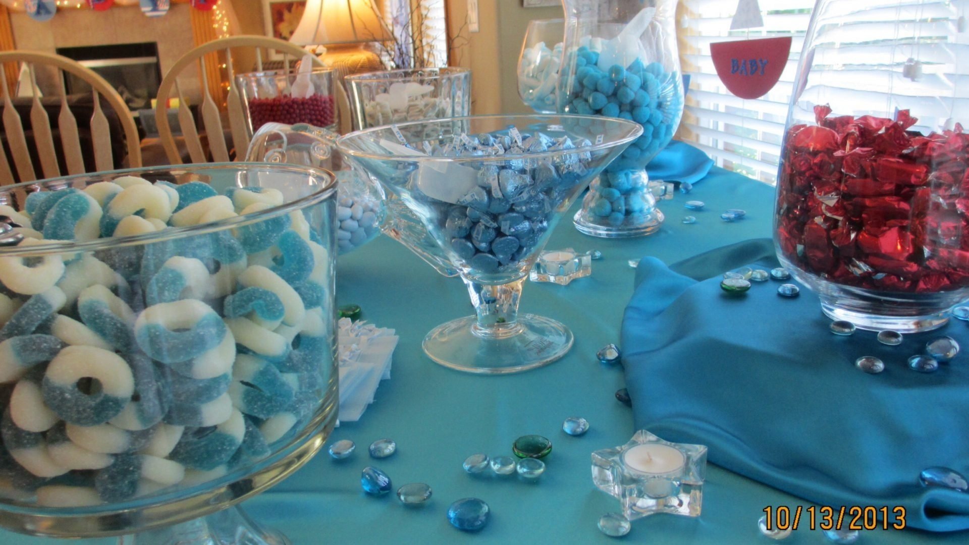 boy baby shower candy bar ideas para buffet game all white idea