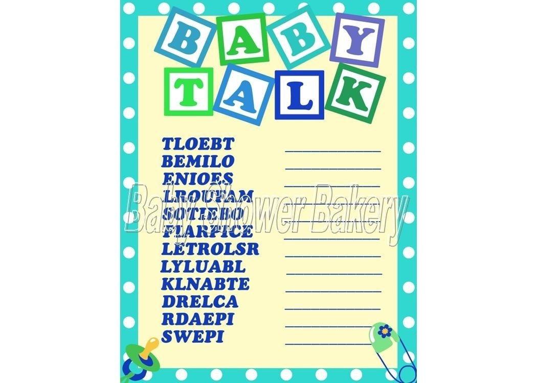 10 Elegant Baby Shower Game Ideas For A Boy boy baby shower game baby word scramble baby shower game for 1 2020
