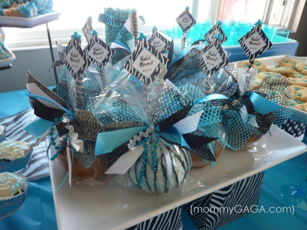 10 Perfect Baby Boy Shower Centerpiece Ideas boy blue zebra baby shower custom caramel apples supreme baby 2020