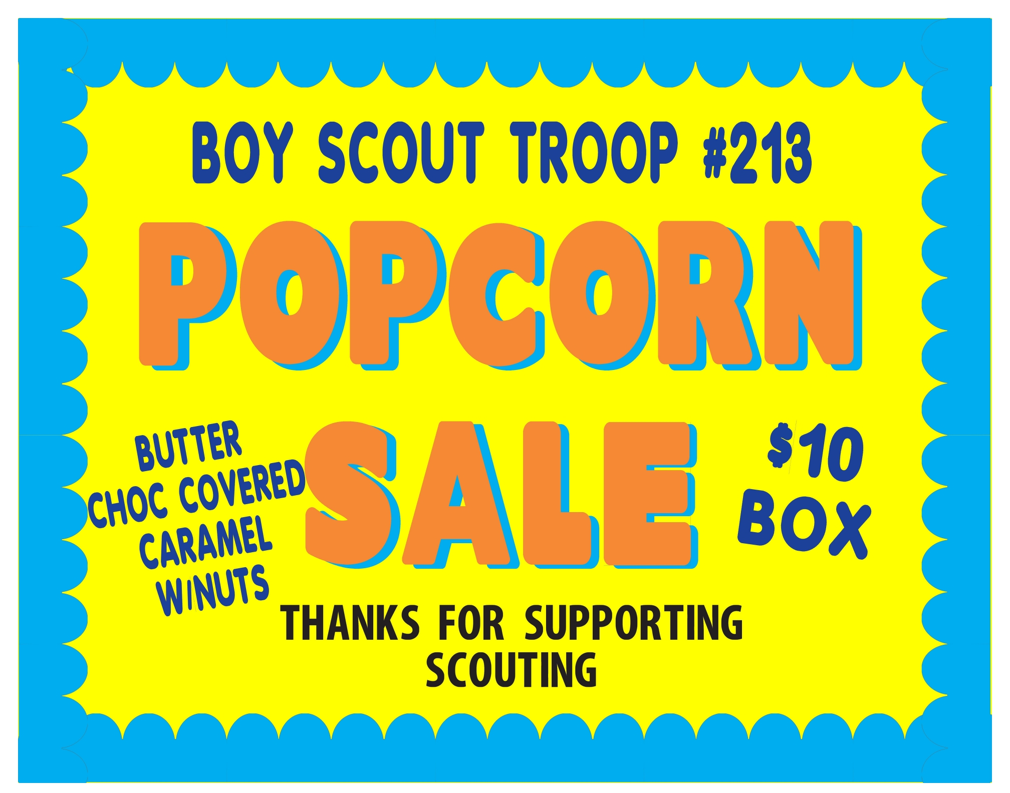 10 Stylish Fundraising Ideas For Boy Scouts boy scouts popcorn sale fundraising poster project ideas