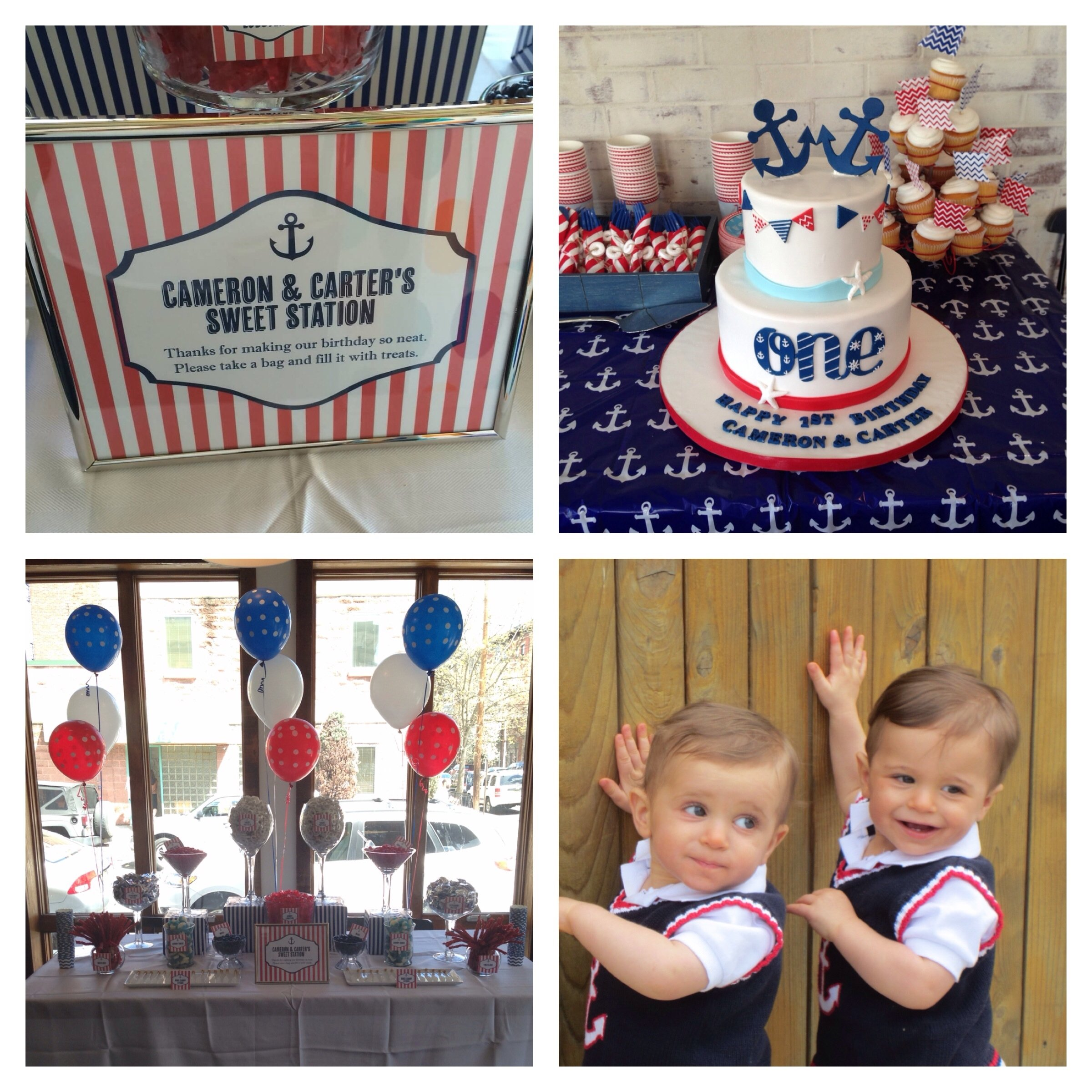 10 Lovable Twins First Birthday Party Ideas boy twins first birthday party nautical red white and blue