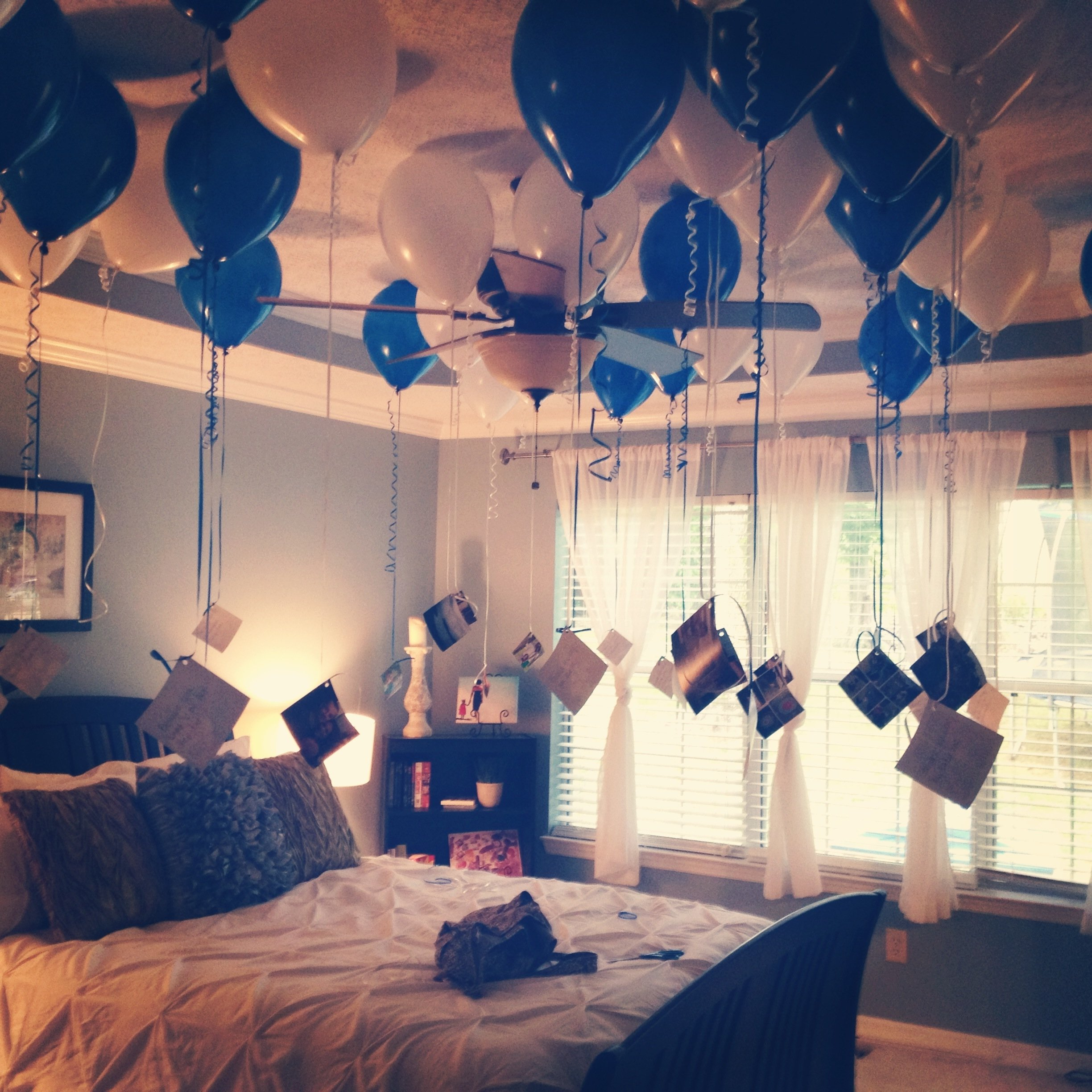 boyfriend's 35th birthday. 35 balloons, 35 pictures, with 35 reasons