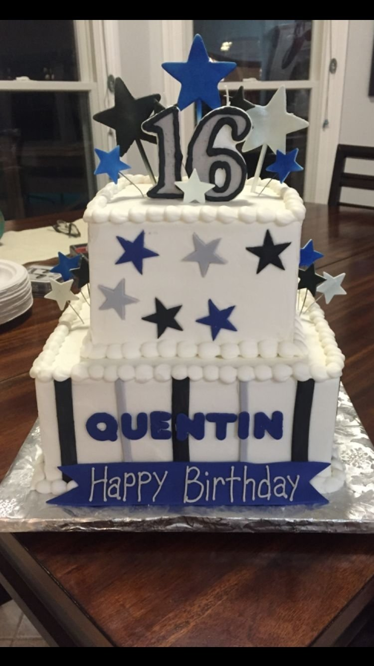 10 Wonderful Sweet 16 Ideas For Boys boys 16th birthday cake top layer chocolate bottom layer vanilla 2020