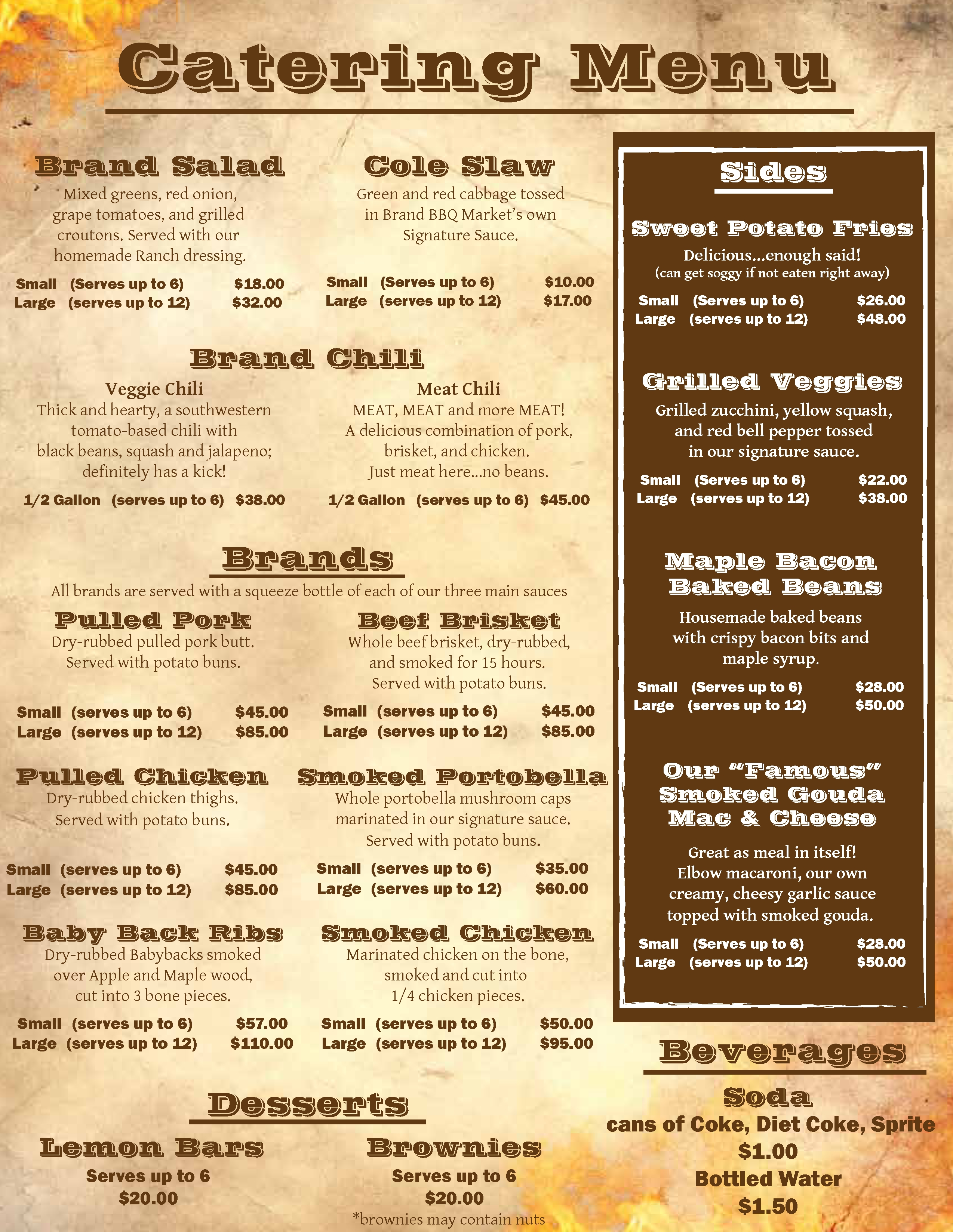 brand bbq food truck catering menu - page 2 of 2 - chicago