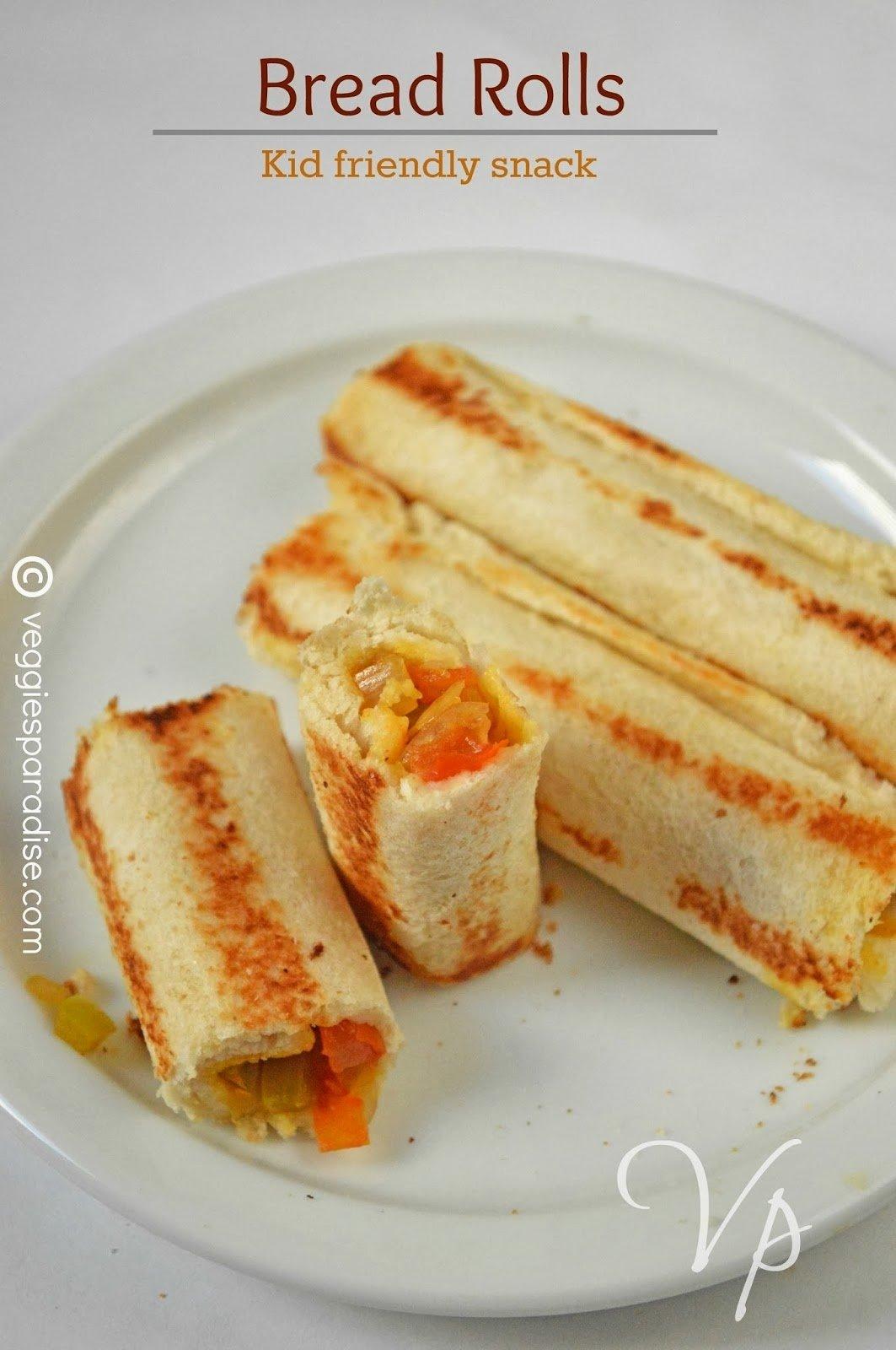 10 Famous Easy Snack Ideas For Kids bread rolls easy kids snacks pictorial video veggies paradise 2020