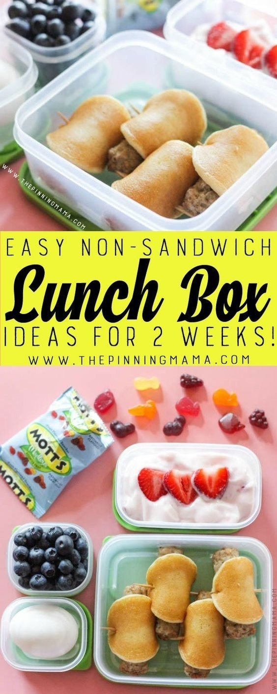 10 Stylish Grab And Go Lunch Ideas breakfast for lunch lunch box idea just one of 2 weeks worth of 2020